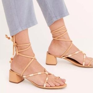 FREE PEOPLE hermosa leather lace up sandals NWOT